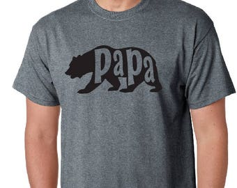 Father's Day gift, Papa Bear Tshirt- Dad shirt, Dad Bear Tee Husband Gift Bear T-shirt, Husband gifts, Bear Shirts, Dad gifts.