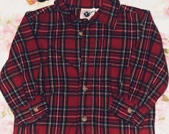 18 months boy button up flannel by Good Lad