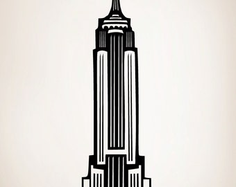 Vinyl Wall Art Decal Sticker Empire State Building NYC 163-40x12