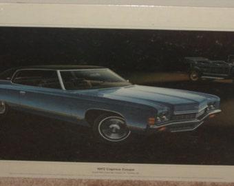 1972 Chevrolet Caprice Coupe - Original Showroom Print - SKU 1310