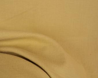 Butterscotch Gold Linen Drapery Fabric