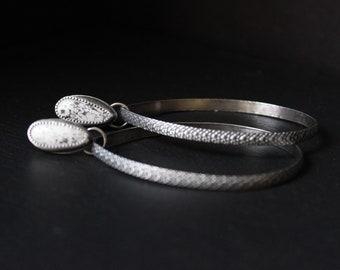 READY TO SHIP - White Buffalo Turquoise Sterling Silver Earrings Stud Hoops #004 | Teardrop Studs Post | Gugma Women's Minimalist Jewelry