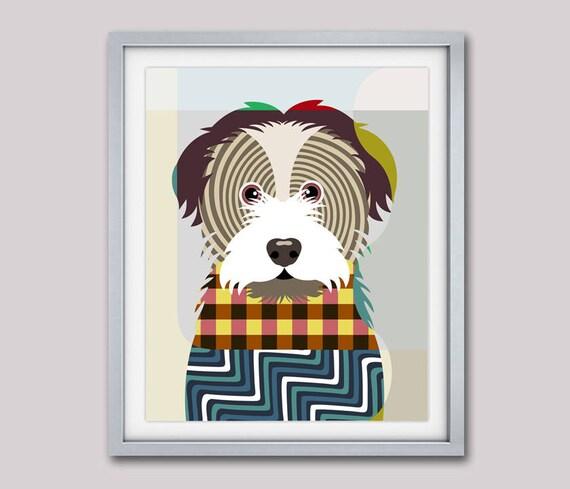 Havanese Art Print, Havanese Poster, Havanese Decor, Havanese Gifts,  Dog Breed Poster, Dog Breed Print, Pop Art Dog