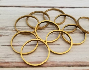 Round brass hoops 10 in package