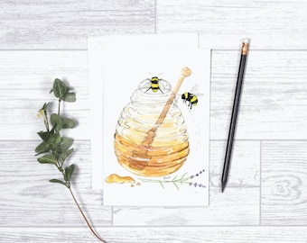 "We Were Meant to Bee - Note Cards - 4""x6"" - Individual - Greeting Card - Gifts For Her - Gifts For Him - Honey Bees - Love - Anniversary"