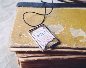 Lucky ticket necklace - Make a wish necklace Wish jewellery - Lucky necklace Good luck Symbolic - Gift for Traveller Vintage ticket