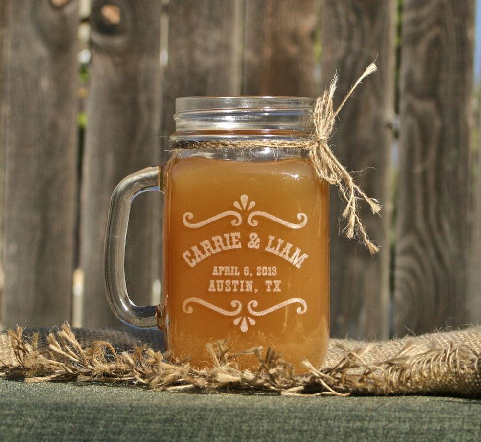 Mason Jar Drink Glasses For Wedding