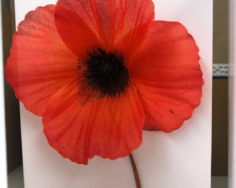 Beautiful handmade poppy card