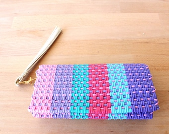 Colorful Mexican Plastic / Leather Wallet
