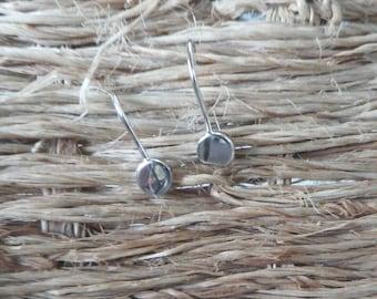 """Coin"" Silver earrings"