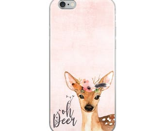 Oh Deer iPhone Case, Sweet Deer Phone Case, Animal Gift Idea, Easter Basket Stuffer