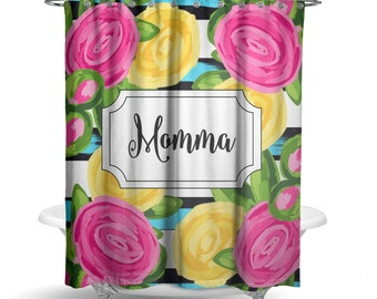 """Personalized Shower Curtain - Roses Shower Curtain -70"""" X 72"""" Washable Polyester Curtain HomeDecor Bathroom Curtain"""