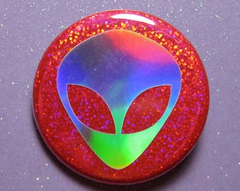 Alien pin, holographic UFO pin, ufo pin, ufo gifts