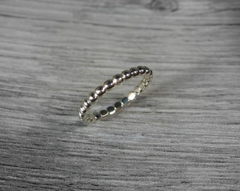 Wedding Band 14K White Gold, Women, Stacking Ring, Yellow, White, and Rose Gold, Made to Order