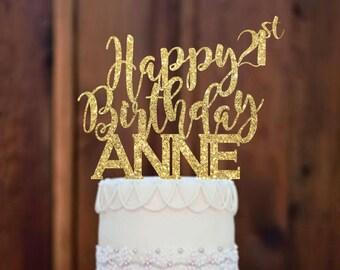 21 cake topper Etsy