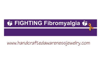 Fighting Fibromyalgia Silicone Wristband, Purple Wristband, Fibromyalgia Awareness