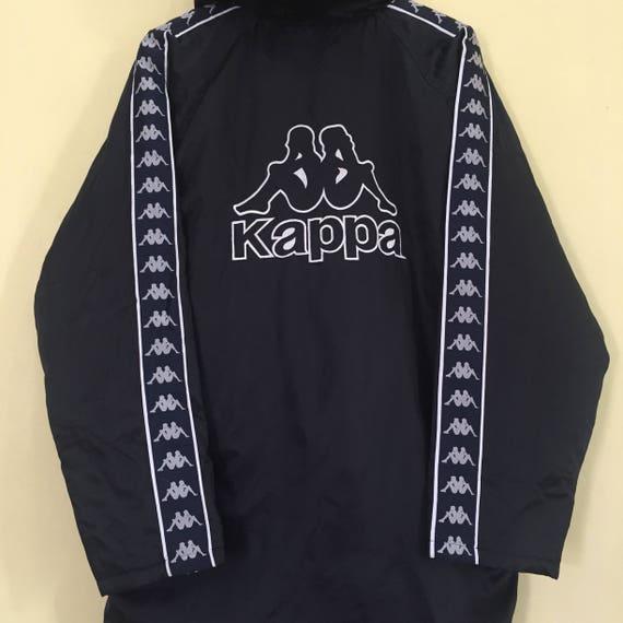 Logo Design Small Rare Big And KAPPA With Kappa Very Zipper Logo Of Jacket Tape Embroidery Vintage Jacket Side Fleece fOa4qfwA