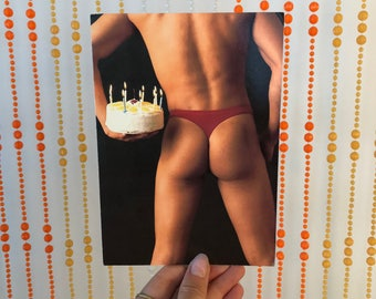 Vintage 'Happy Birthday, my ass!' Birthday Card by Snapshot Cards