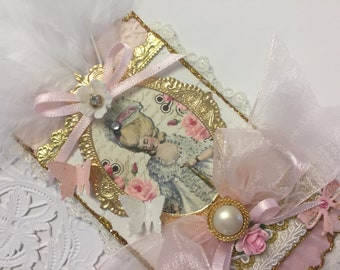 Marie Antoinette ATC ACEO Artist Trading Card Original Art Card Mixed Media ATC