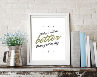 Printable Wall Art/ Art Wall / Home Decor / Gallery Nordic Art / I will be better