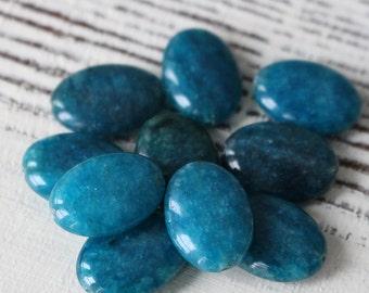 Apatite Flat Oval Beads For Jewelry Making - Flat Gemstone Beads - 13x18mm Oval Gemstone - Choose Amount