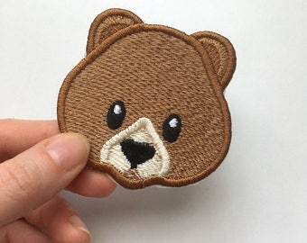 Bear Face Emoji patch