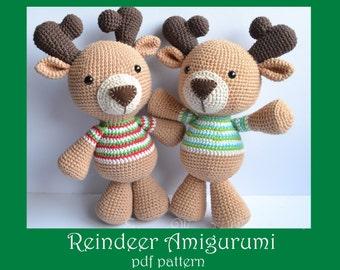 Amigurumi Reindeer Free Pattern : Amigurumi reindeer etsy