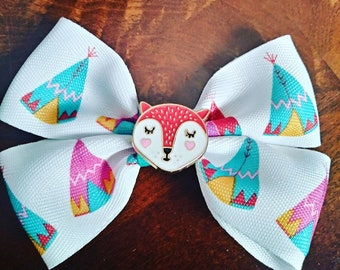 Hairbow/ embellished hair bow/  colorful hair bow/ unique hairbow/ kawaii hairbow/ girls hair bow/  new hair bow