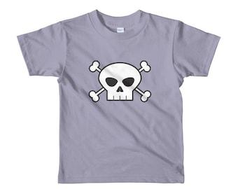 Basic skull & crossbones short sleeve kids t-shirt
