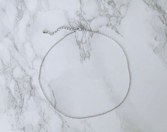 Barely There Choker, silver chain choker