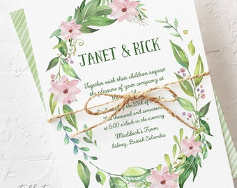 Magnolia Garden - Wedding Invitations (Style 13730)