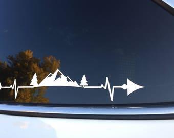 Mountain heartbeat  Decal