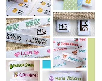 Custom Clothing Labels + stickers !  3 YARDS + 60 stickers Custom Fabric Label Tag
