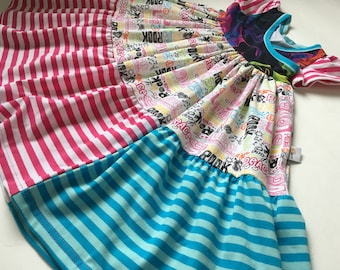 peace&love crazy twirl crossover dress *size4Y*