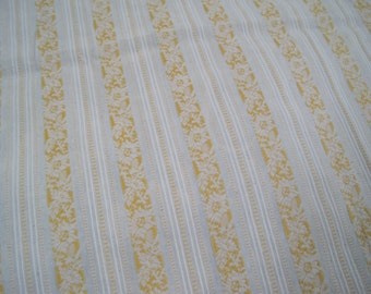 Home Decor Lightweight Cotton French Ticking Stripe Yellow White Large Remnant