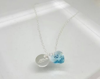 Swarovski and Sterling Silver Necklace