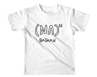 NA to the 16th power Batman Math Equation Short sleeve kids t-shirt