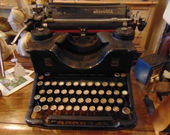 Antique decorative typewriter