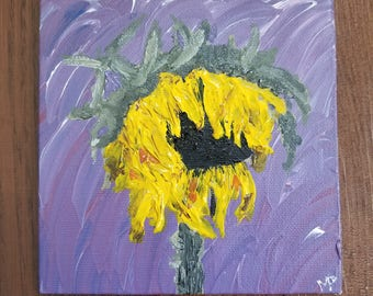 Wilted Sunflower Painting