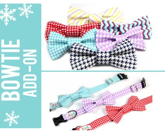 Dog Bow Tie, Removable Bow Tie for Dogs - Wedding Bow tie, Formal Events - You choose the pattern and size