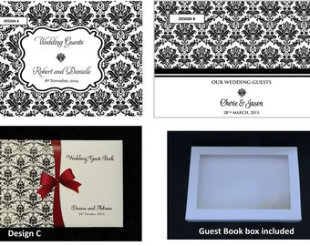 Personalised Guest Book in Damask Design