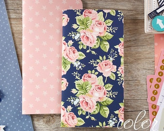 Color Crush Travelers Notepad Inserts Set 2/Pkg Navy Floral & Star (NP104)