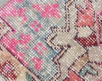 Turkish rug pink,3'7x6'8 Ft Turkish Rug oushak,hand woven,rugs ,Area rug,113x209 cm,Vintage Rug,Floor Rug,hand knotted rug,bohemian1221rug