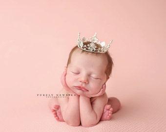 Newborn Crown, Photo Prop, baby crown, photography prop, crystal crown, newborn photo prop, princess crown - Jenny