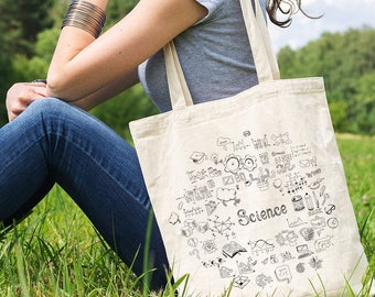 Science Bag Chemistry Tote Bag Grocery Bag Nerd Chemistry Gift Biologist Gift for Women Physics Accessories