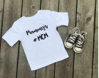 Mommy's MCM shirt, Mommy's MCM Bodysuit , Custom Shirt, Baby Clothes, Boy Clothes, Boy Shirt, Mama's Boy
