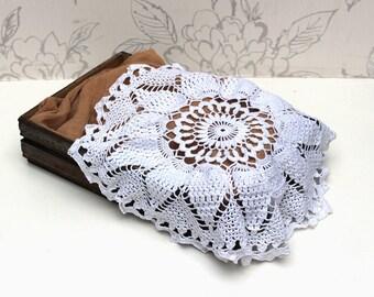 Newborn Photo Prop, Large Crochet Lace Layer, Vintage Lace Layer,  Floral Lace Photography Prop, Crochet Lace, Circular Lace Layer