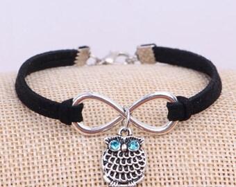 Owl Infinity Bracelets