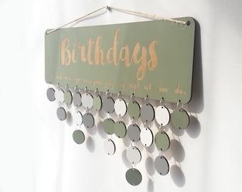 Personalised Green Birthday Board ~ Family & Friends or Birthdays