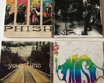 Phish handmade stone coaster 4 piece set